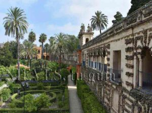Garden of the Ladies of the Alcazar of Seville