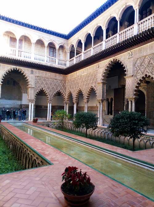 Jardin islamique Patio de las Doncellas del Alcázar à Séville