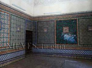 Magnifique salle de tuiles de la maison de Pilate