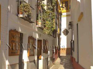 Calle estrecha de Sevilla