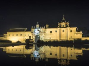 Night view of the Cartuja de Sevilla
