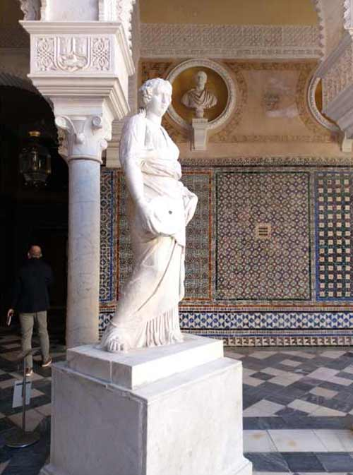 Varios detalles de la Casa de Pilatos