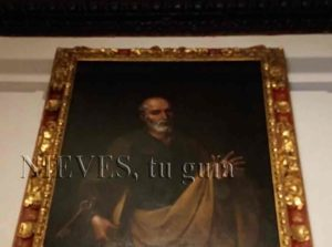 Grandes pinturas al óleo del interior de la Iglesia del Salvador de Sevilla