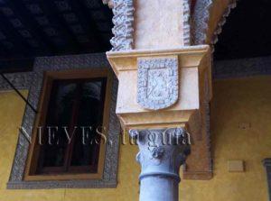 Detalle columnna Palacio de las Dueñas