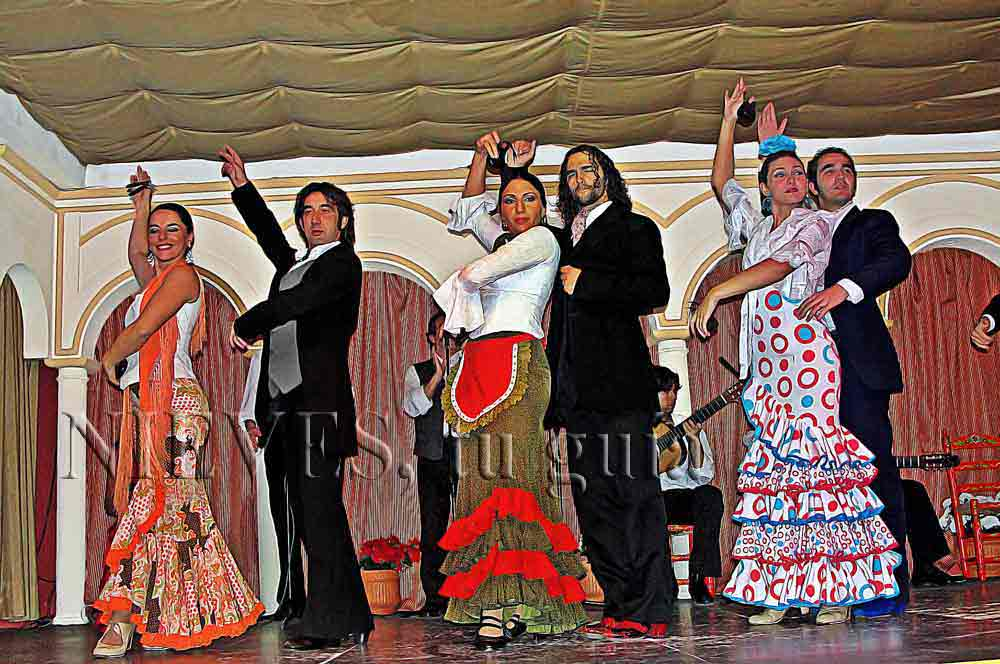 Flamenco group in Seville