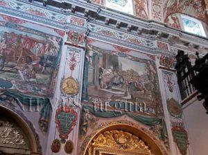 Paintings fresco Hospital de los Venerables in Seville