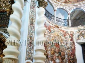 Fresh paintings of the Church of San Luis de los French in Seville