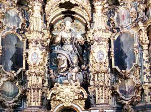 Détails baroques de l'église de San Luis des Français à Séville