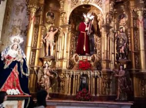 Retable de l'intérieur de l'église du Sauveur de Séville