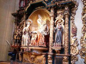 Images de la Vierge de l'intérieur de l'église du Sauveur de Séville