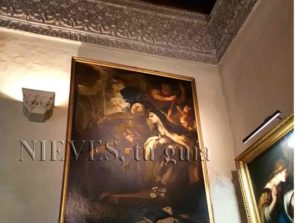 Fabuleuse toile à l'intérieur du Palacio de las dueñas