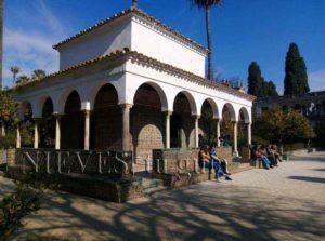 Pavillon de l'Alcazar de Séville. Tonnelle de l'alcôve