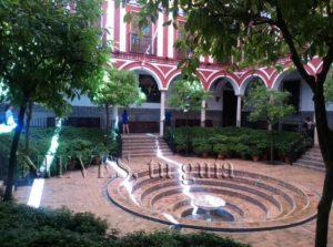 Interior patio Hospital de los Venerables in Seville