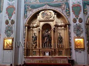 Partial view altarpiece