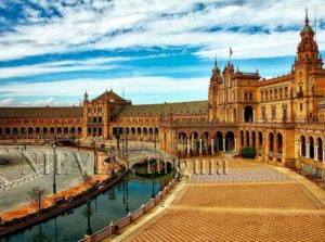 Plaza of Spain of Seville