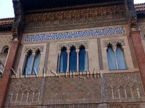 Ventanas musulmanas en el Alcázar de Sevilla cicerone