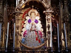 Image of the Virgin in the Church of the Savior of Seville