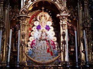Imagen de la Virgen en la Iglesia del Salvador de Sevilla
